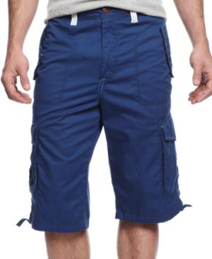 Sean John Shorts Tech Cargo Shorts