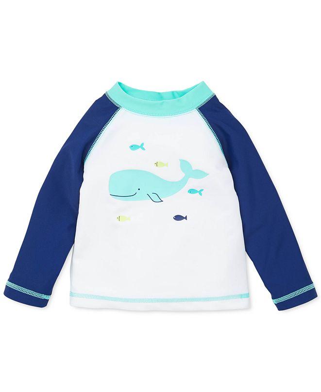 Little Me Baby Boys Whale Rash Guard