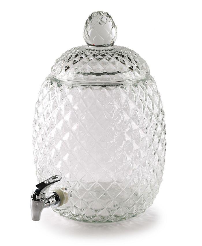 Circle Glass - Aberdeen Pineapple shaped dispenser 2.1 Gallon