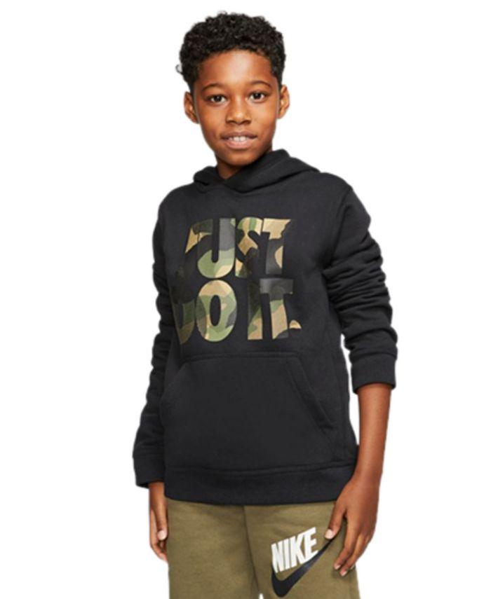 Nike - Big Boys Camo-Print Just Do It Hoodie