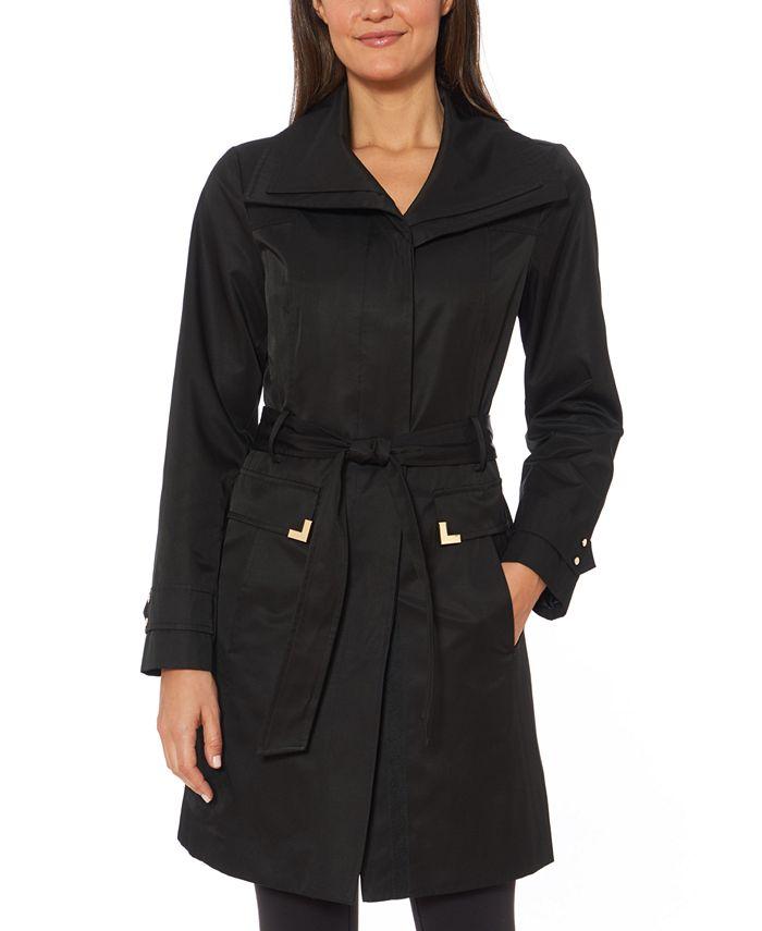Jones New York - Belted Wing-Collar Raincoat