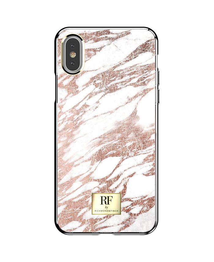 Richmond&Finch - Rose Gold Marble Case for iPhone XS Max