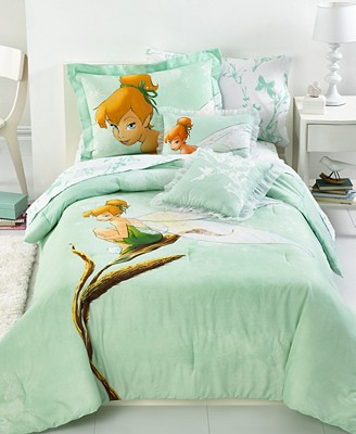mint green watercolor tinker bell bedding