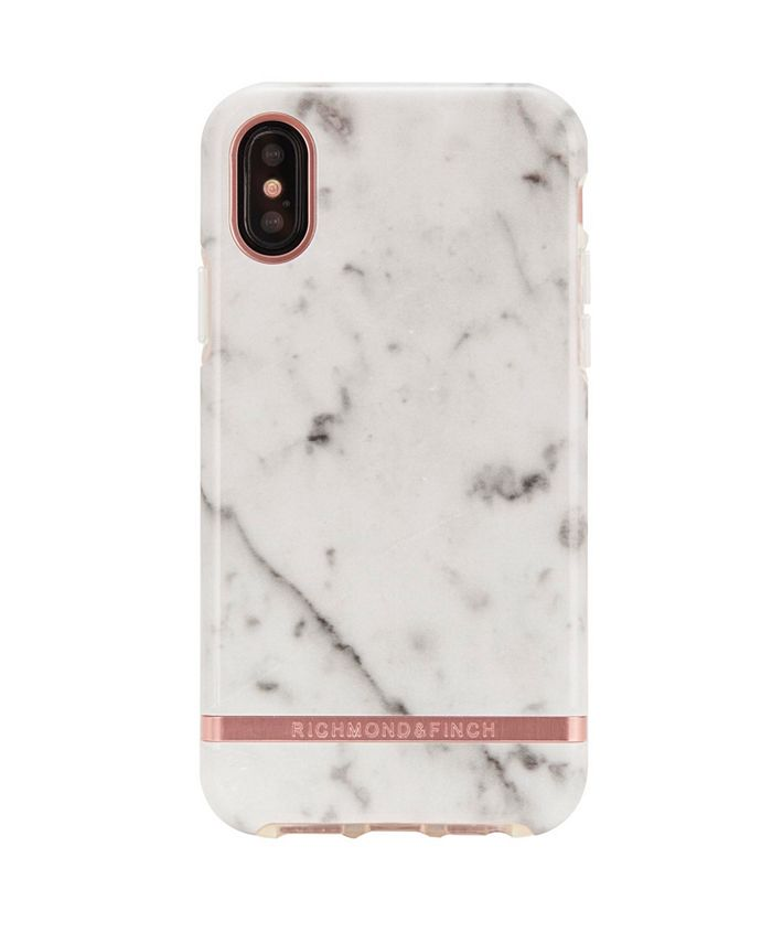 Richmond&Finch - White Marble Case for iPhone XS MAX