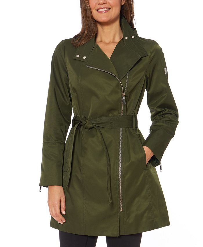 Vince Camuto - Hooded Belted Raincoat