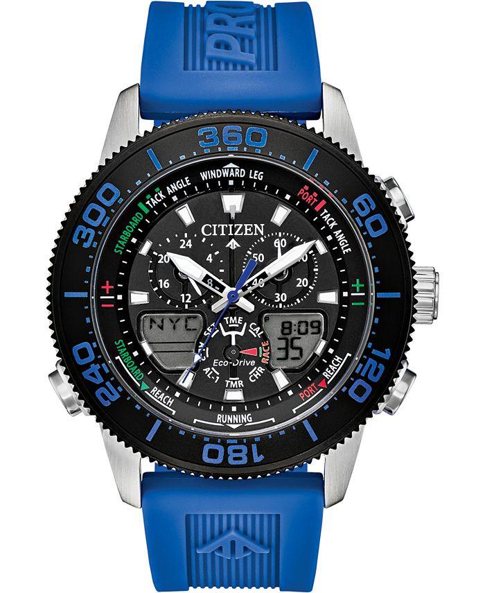 Citizen - Men's Analog-Digital Promaster Sailhawk Blue Polyurethane Strap Watch 44mm
