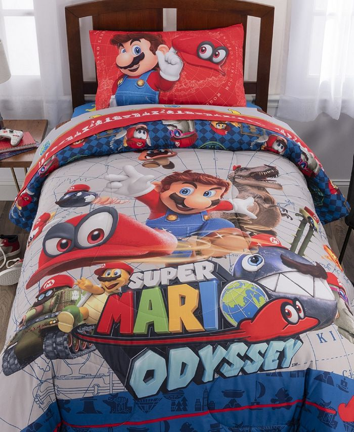 Franco Manufacturing Co - Super Mario Twin 4-Piece Bed in a Bag
