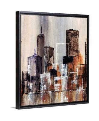 """'Coastal City I' Framed Canvas Wall Art, 16"""" x 20"""""""