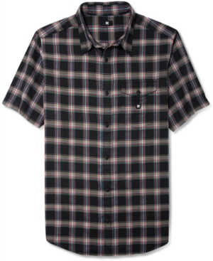 DC Shoes Shirt Eschaton Plaid Short Sleeve Shirt