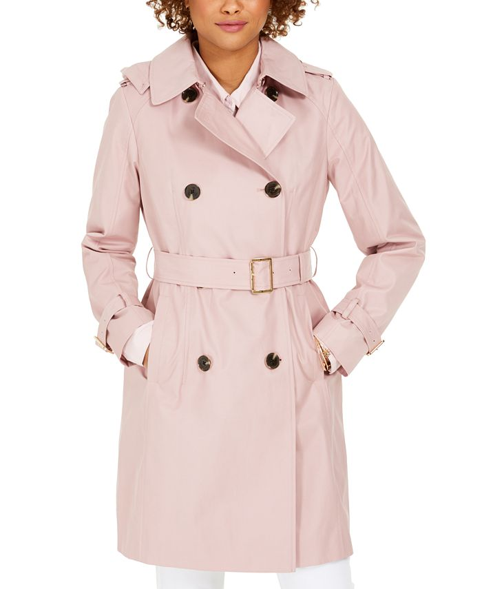 Michael Kors - Belted Hooded Trench Coat