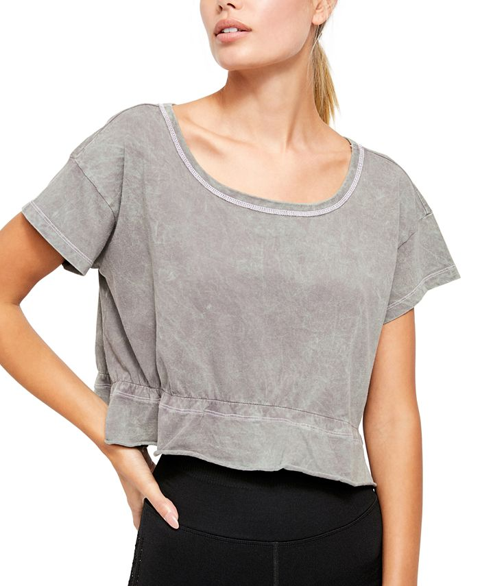 Free People - Acadia Cotton Cropped T-Shirt