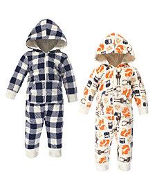 Hudson Baby Baby Boy Fleece Jumpsuits, 2 Pack