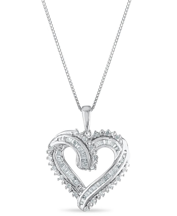 Macy's - Diamond 1/2 ct. t.w. Pendant in Sterling Silver