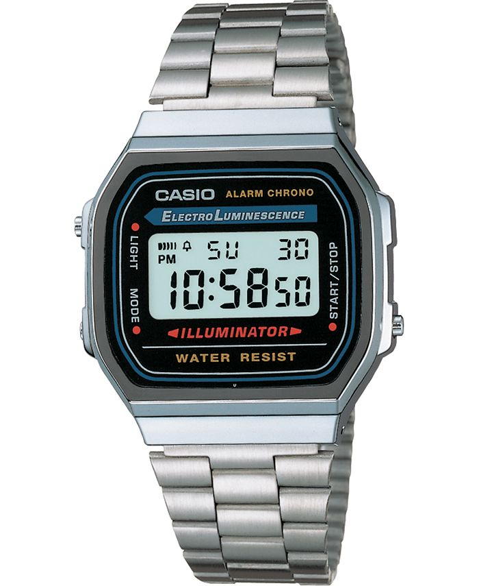 Casio - Unisex Digital Stainless Steel Bracelet Watch 32mm