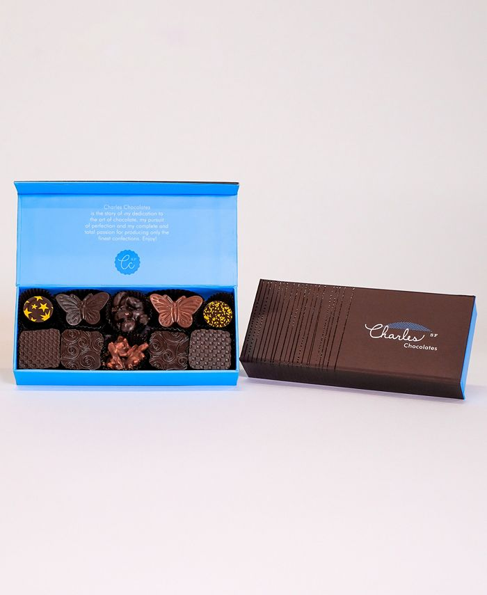 Charles Chocolates - Nuts, Pralines & Caramels Collection, Small Box (10 piece)