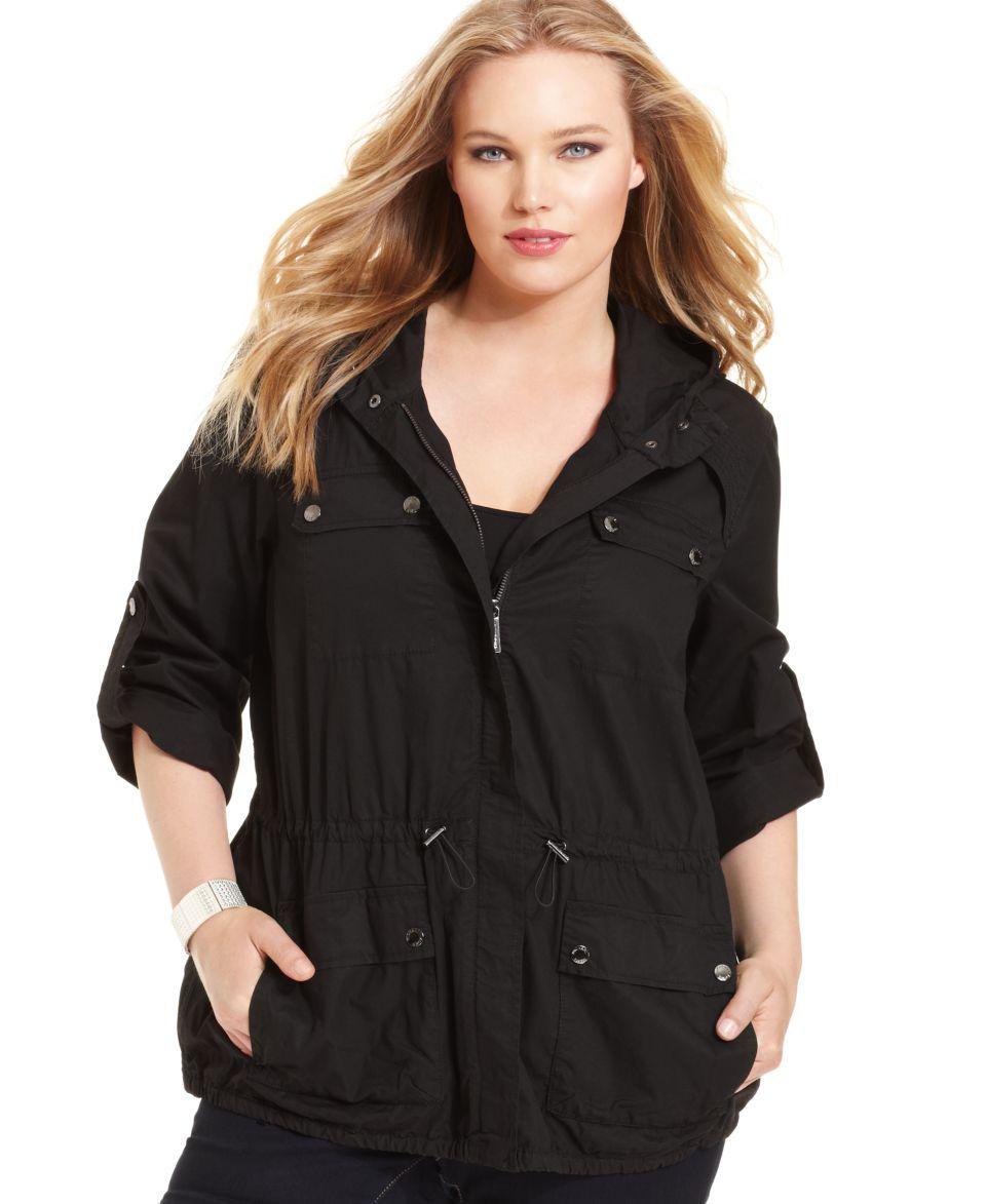 MICHAEL Michael Kors Plus Size Jacket, Hooded Anorak   Jackets & Blazers   Plus Sizes