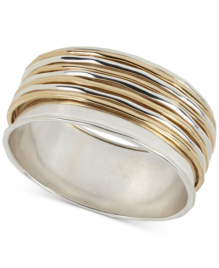 Robert Lee Morris Soho - Two-Tone Sculptural Wire Bangle Bracelet