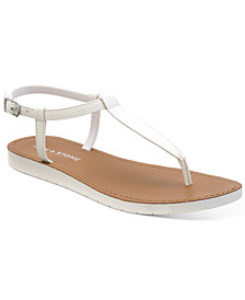 Sun + Stone Kristi T-Strap Flat Sandals, Created for Macy's