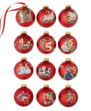 Kurt Adler 12 Days of Christmas Ornament Set