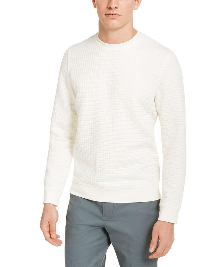 Alfani - Men's Quilted Pullover Sweater