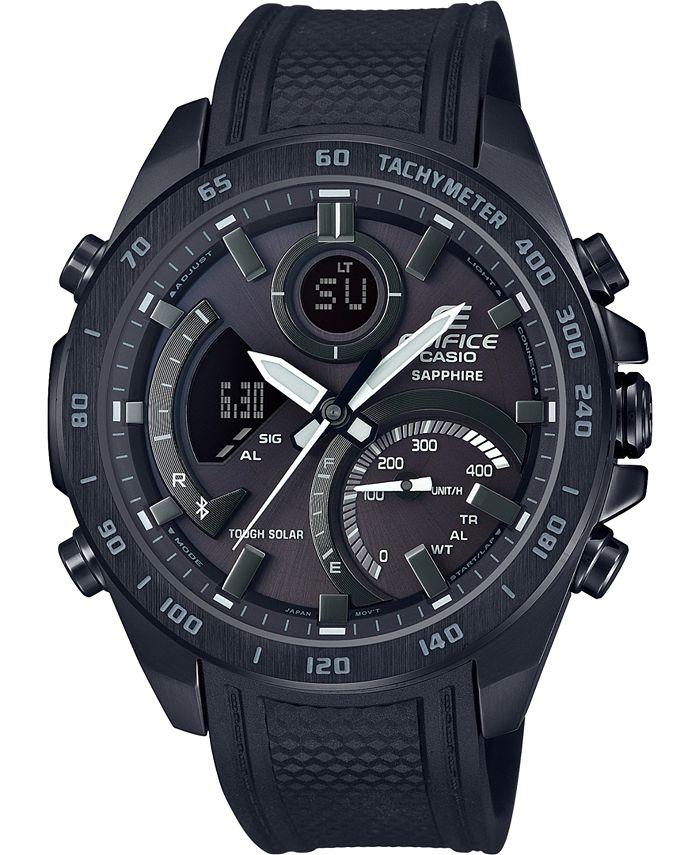G-Shock - Men's Solar Analog-Digital  Black Resin Strap Watch 48mm
