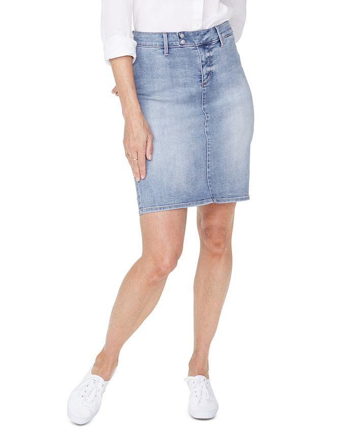 NYDJ - Denim Snap-Waist Skirt