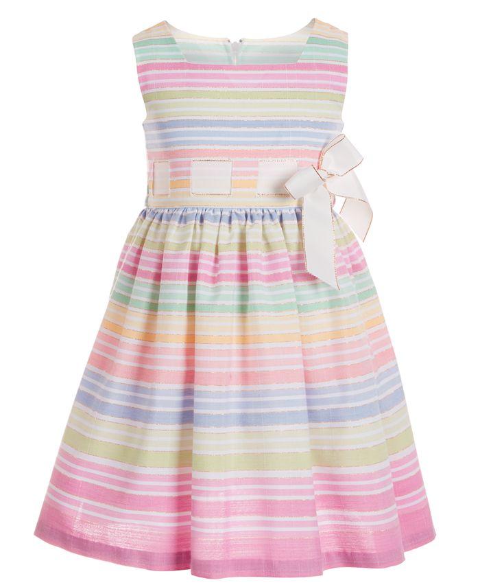 Bonnie Jean - Toddler Girls Striped Bow Dress