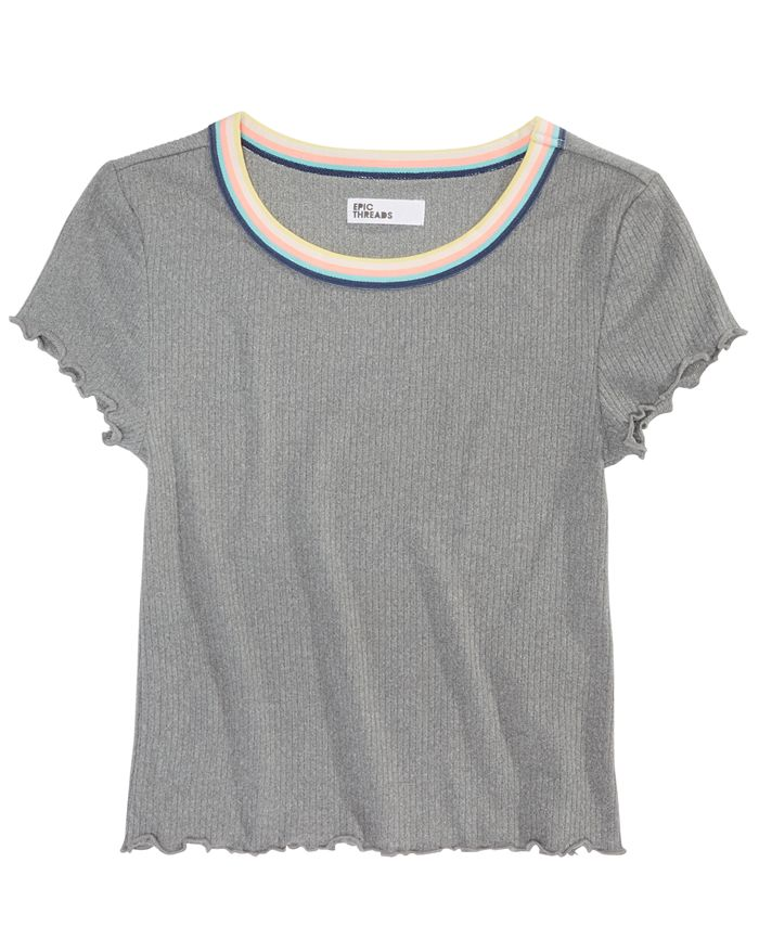 Epic Threads - Big Girls Lettuce-Edge T-Shirt