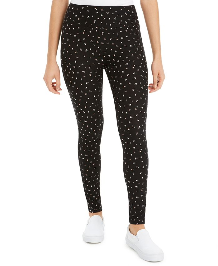 Hippie Rose - Juniors' Printed High-Waisted Leggings