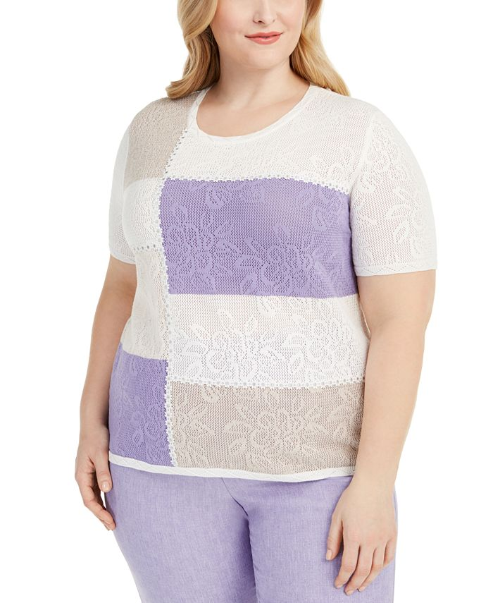 Alfred Dunner - Plus Size Nantucket Colorblocked Top