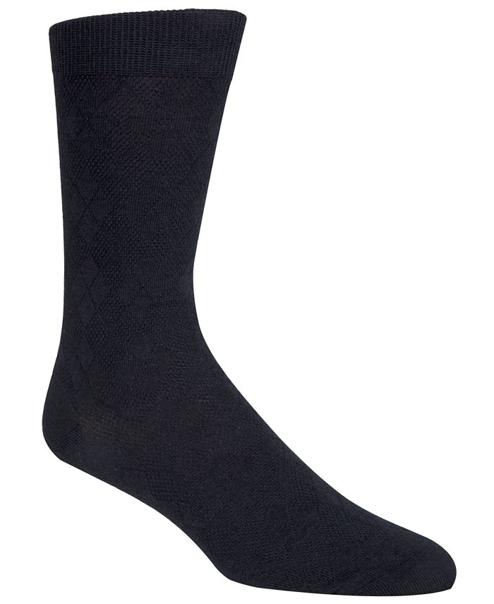 Cole Haan - Men's Tonal Argyle Crew Socks