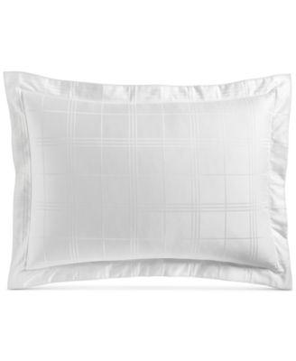 Windowpane Standard Sham, 550-Thread Count Supima Cotton, Created for Macy's