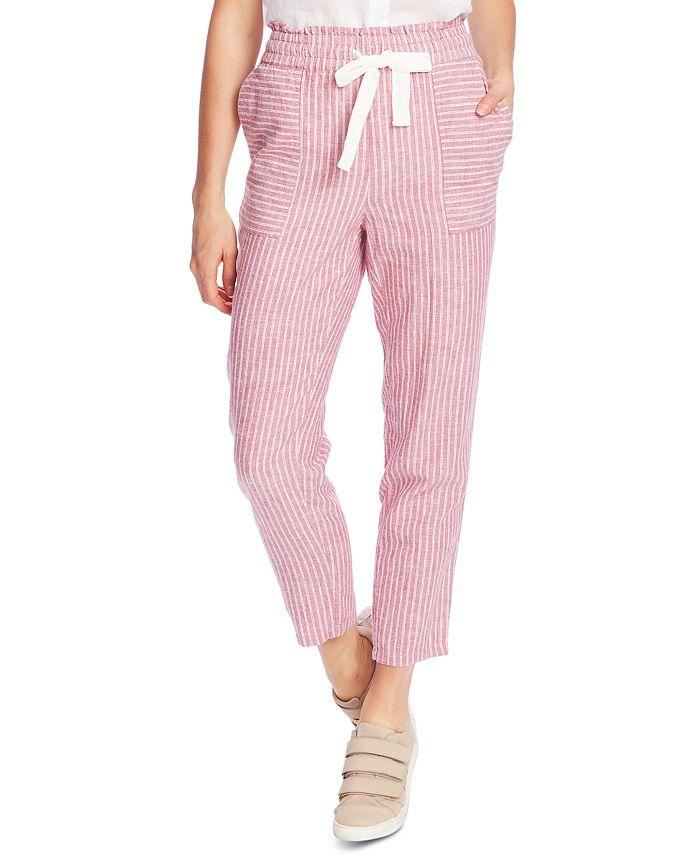 Vince Camuto - Striped Drawstring-Waist Pants