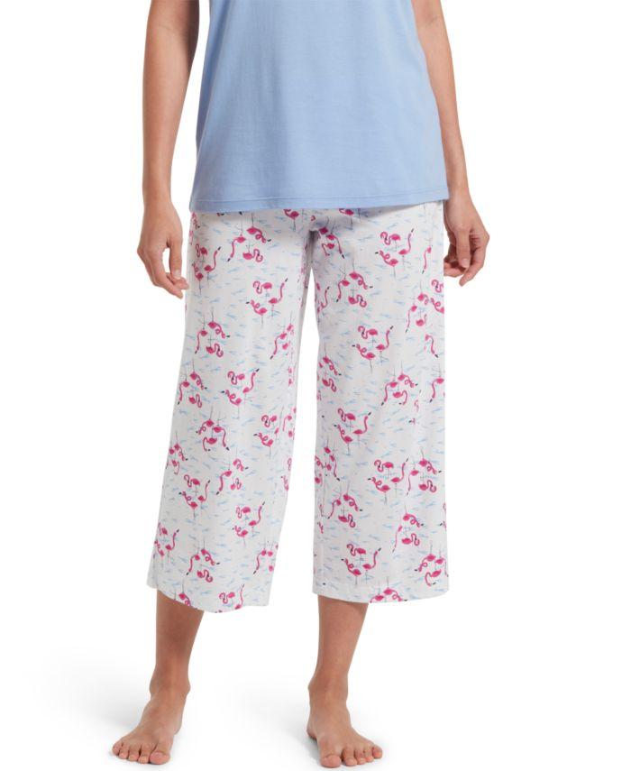 Hue Cotton Temp Tech Flamingo-Print Capri Pajama Pants & Reviews - Bras, Panties & Lingerie - Women - Macy's