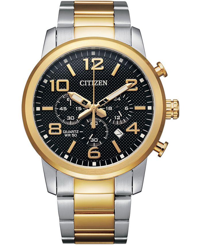 Citizen - Men's Quartz Chronograph Two-Tone Stainless Steel Bracelet Watch 42mm