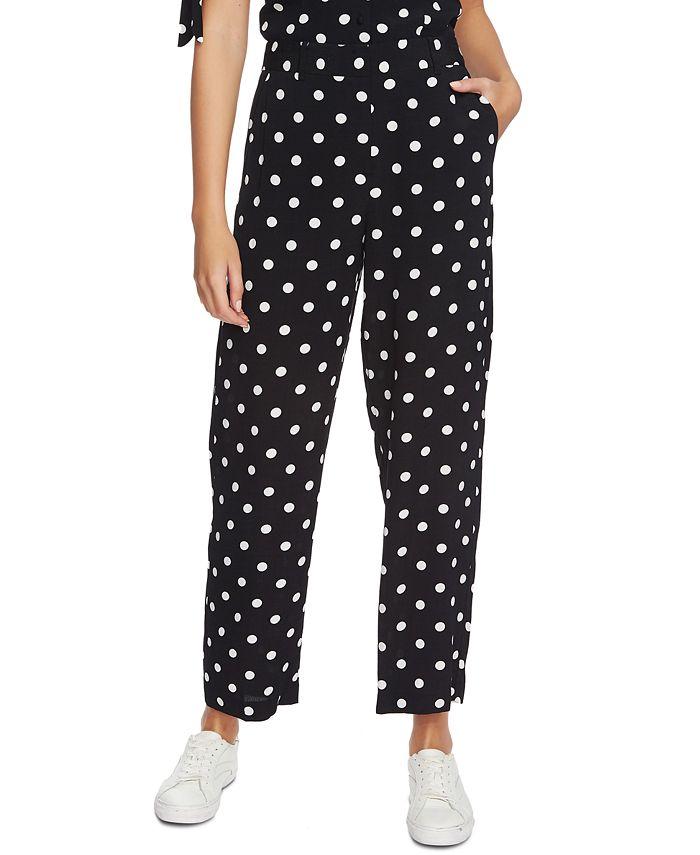 1.STATE - Polka-Dot Wide-Leg Pants