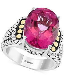 EFFY® Pink Topaz Statement Ring (13-3/4 ct. t.w.) in Sterling Silver & 18k Gold