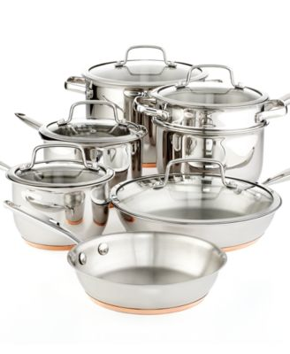 CLOSEOUT! Martha Stewart Collection Copper Accent 12-Pc. Cookware Set, Only at Macy's