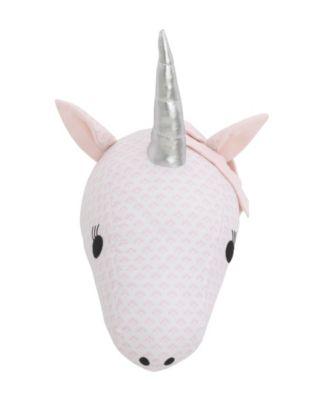 Unicorn Plush Head Wall Decor