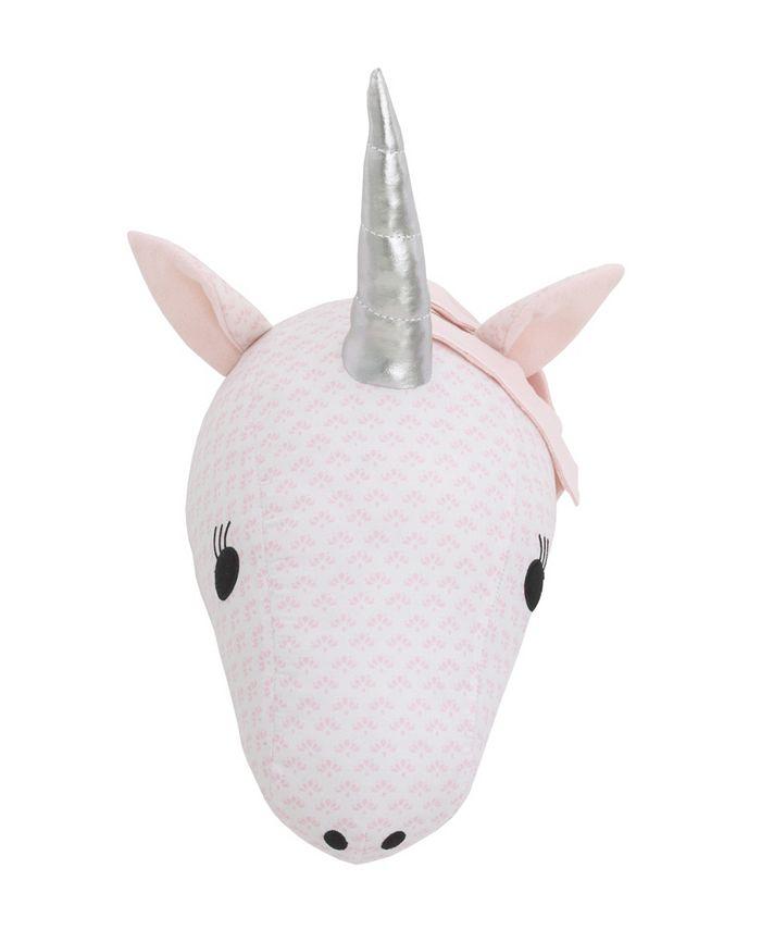 NoJo - Unicorn Plush Head Wall Decor