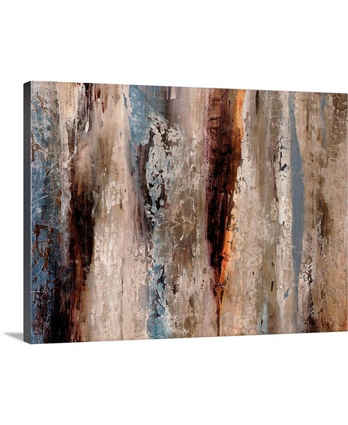 """GreatBigCanvas - 40 in. x 30 in. """"Sediment Rocks"""" by  Alexys Henry Canvas Wall Art"""