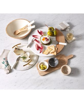 Marble and Wood Lazy Susan
