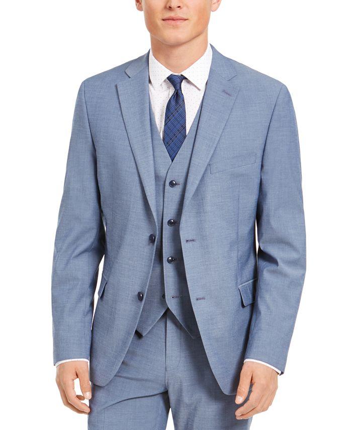 Alfani - Men's Slim-Fit Stretch Light Gray Solid Suit Jacket