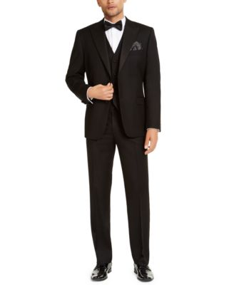 Men's Classic-Fit Stretch Black Tuxedo Jacket, Created for Macy's