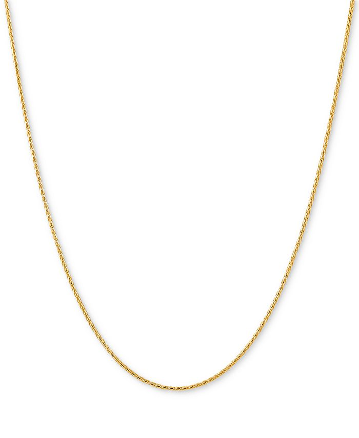 "Italian Gold - Wheat Link 18"" Chain Necklace in 14k Gold"