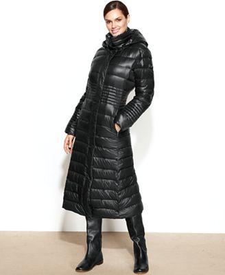 Calvin Klein Hooded Down Puffer Maxi Coat Coats Women