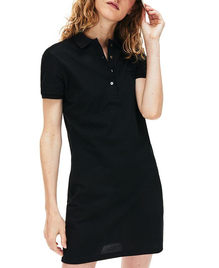 Lacoste - Women's Slim-Fit Short-Sleeve Stretch Cotton Petit Piqué Polo Dress