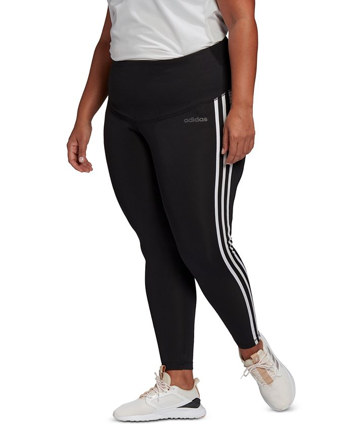 adidas - Plus Size Striped Pull-On Pants