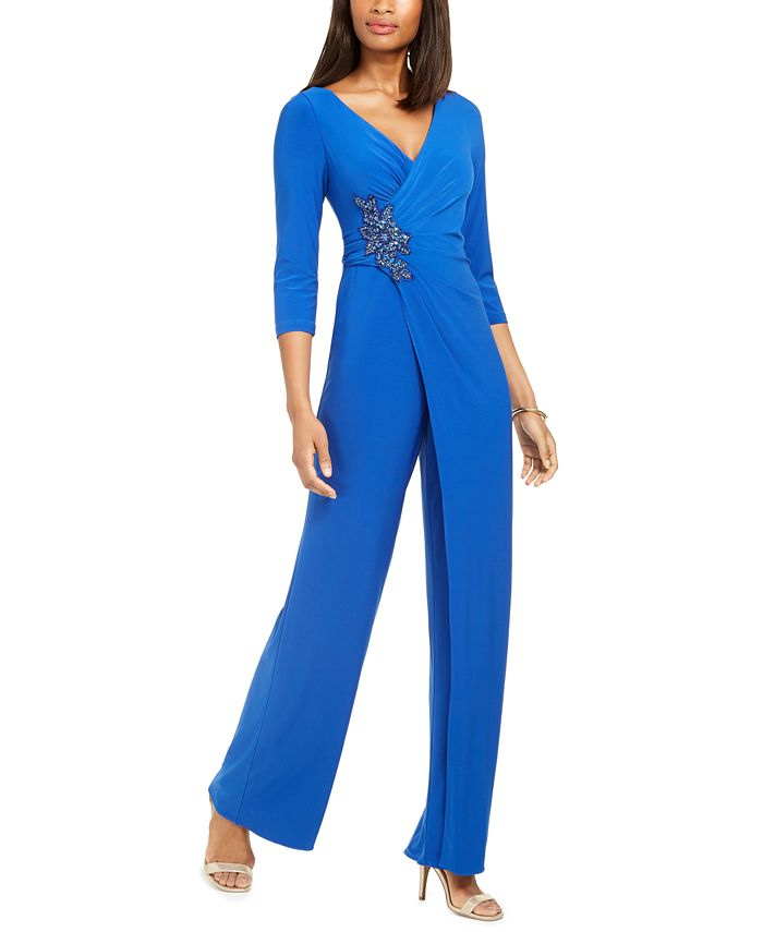 Adrianna Papell Embellished Jumpsuit Reviews Pants Leggings Women Macy S