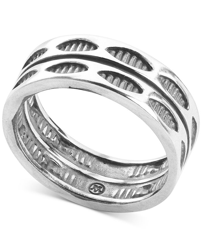 American West - Stackable Statement Ring in Sterling Silver